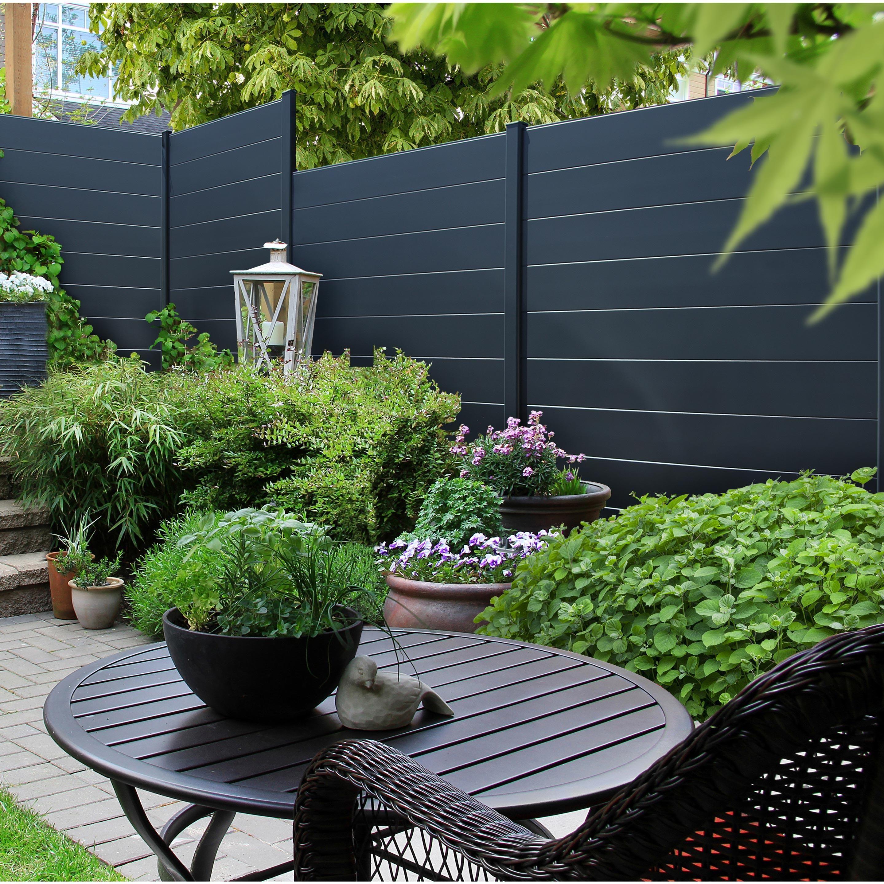 Lame Aluminium Klos Up Gris Zingue H 15 X L 145 Cm Design De Petit Jardin Design Jardin Et Maison
