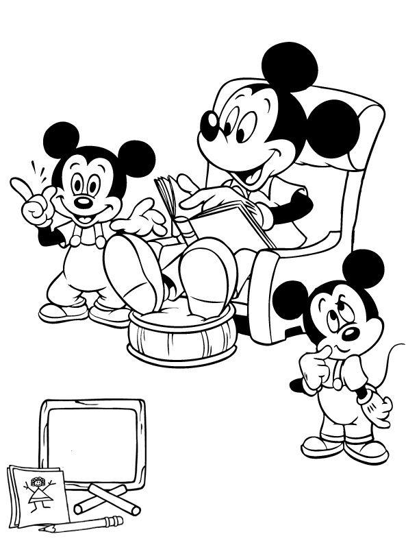 disney 6 ausmalbilder für kinder. malvorlagen zum