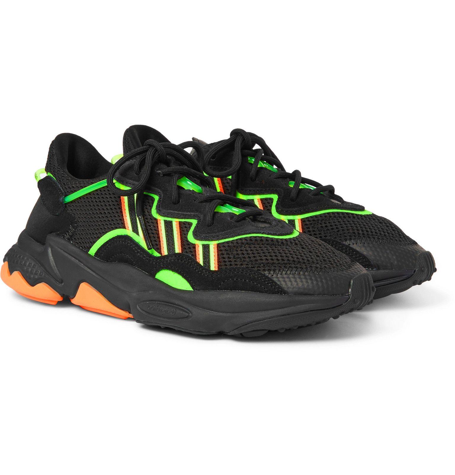 Ozweego Mesh and Suede Sneakers | Sneakers, Suede sneakers ...