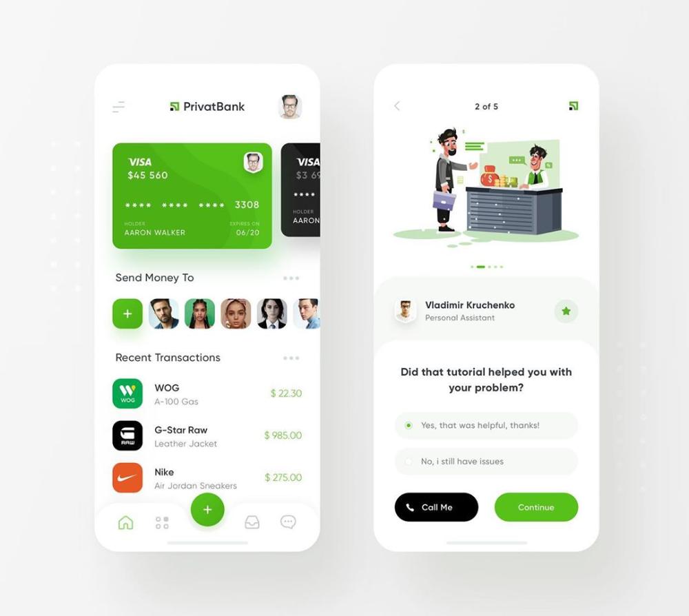 в Instagram «PrivatBank App Redesign Wallet & Help Center