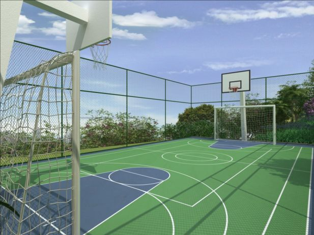 Multi Sports Court On The Rocks Pinterest Backyard
