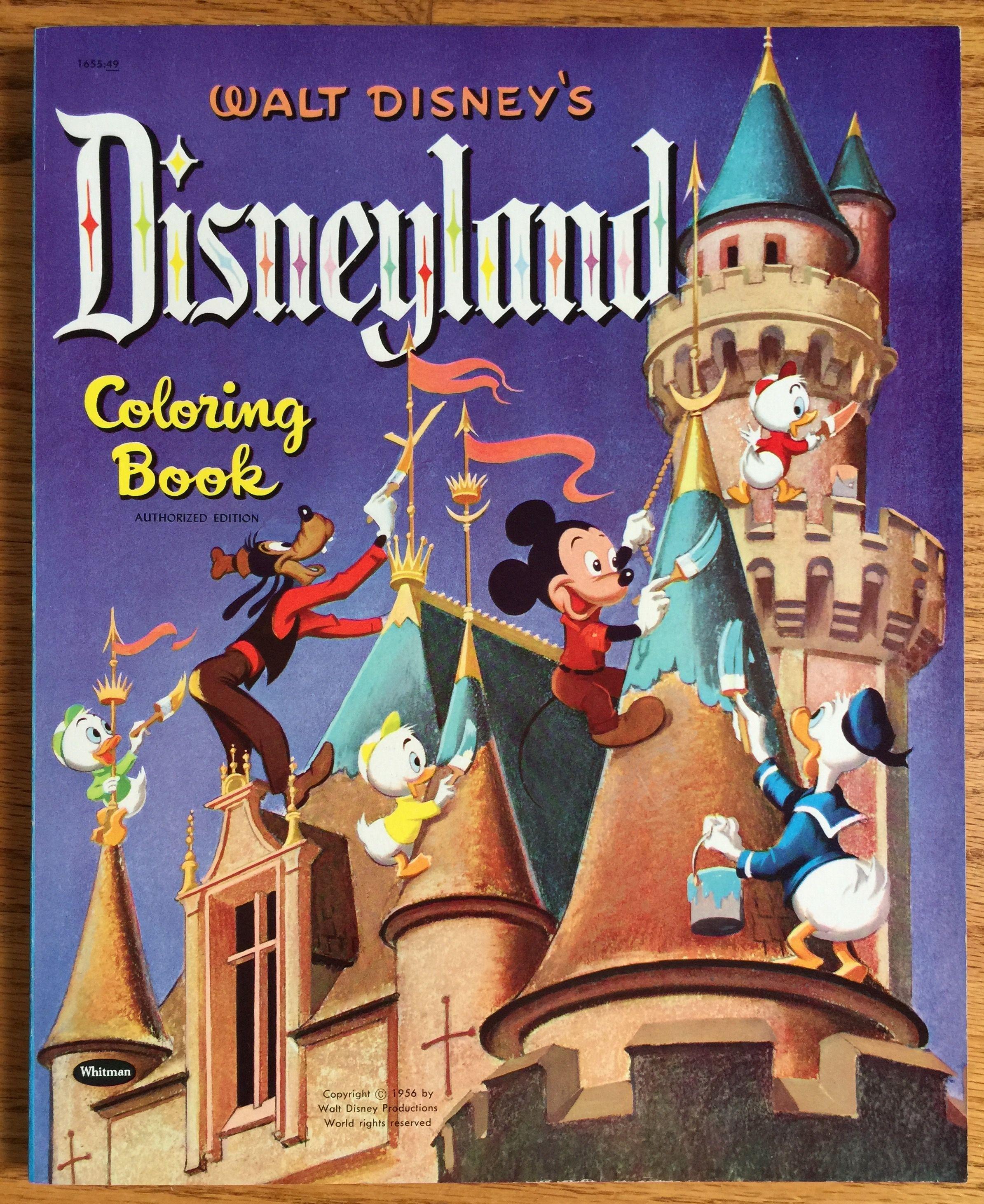 Rare Walt Disney\'s Disneyland Coloring Book 1956 VGC Oversized, 8 ...