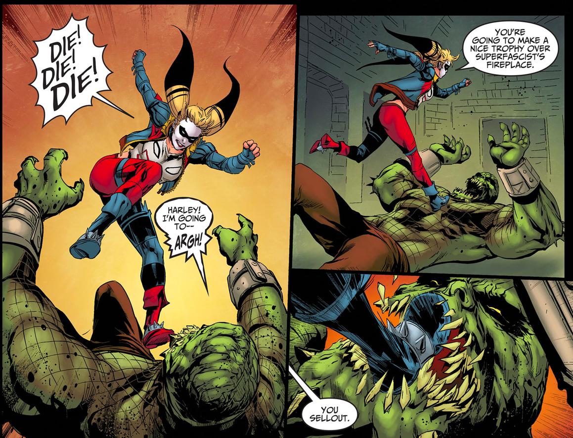Harley Quinn VS Killer Croc (Injustice Gods Among Us) 6 ...