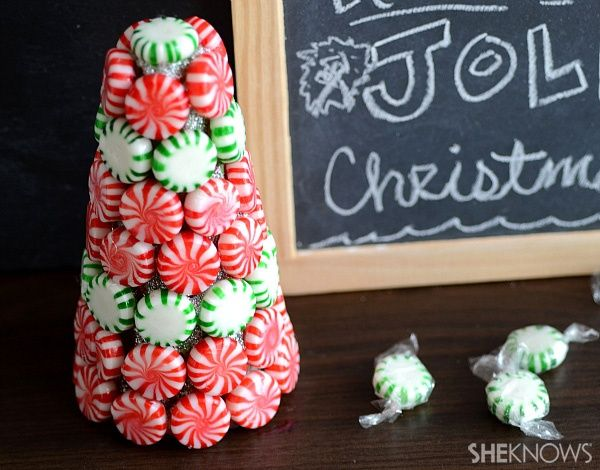 home depot diy christmas projects   DIY candy mint Christmas tree   Home Decor & DIY Projects