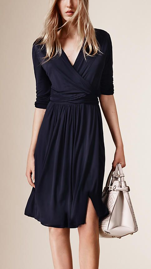 e573d3cdccc0 Jersey Wrap Dress - style is good for nursing and fabric is good for caring  for a newborn
