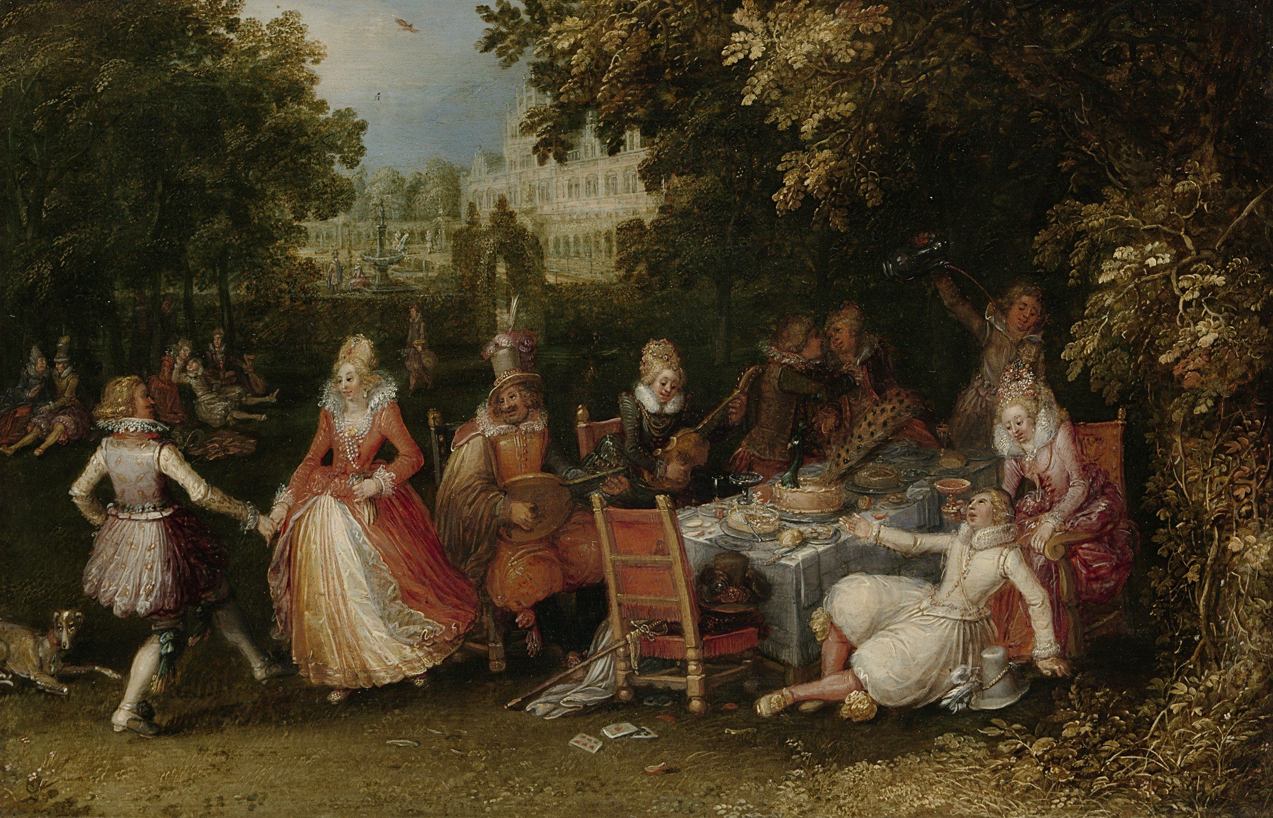 Garden Party (Fête Champêtre) by David Vinckboons, 1610. Rijksmuseum ...