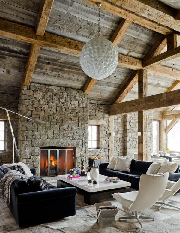 Moderne rustikale Interiors | Bauernhaus wohnzimmer ...