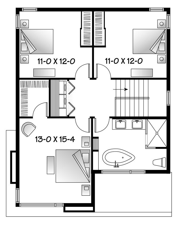 planos de casas de 2 pisos y 3 dormitorios con medidas