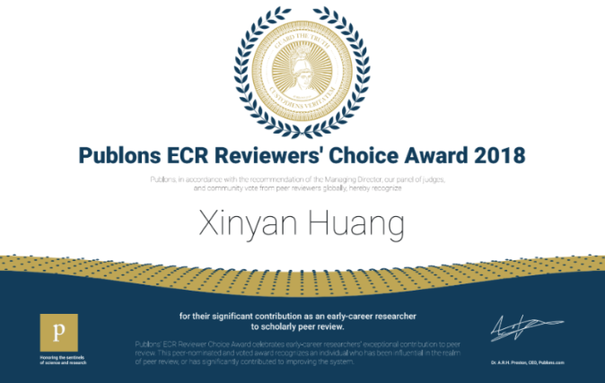 Congratulations! You're a winner in our global Peer Review