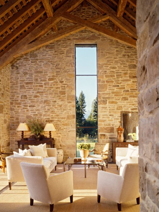 One fabulous window in what appears to be a stone barn for Haus bauen stile