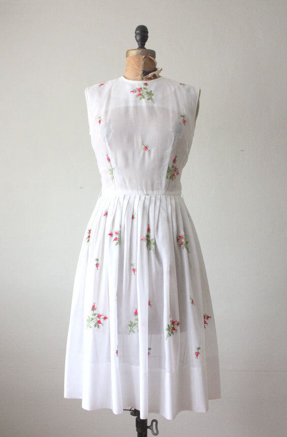 1950s vintage rose dress from Thrush