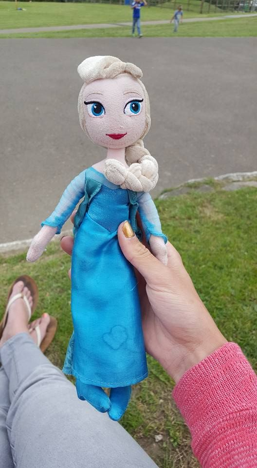 This Elsa soft toy was found in Perranporth park (Cornwall) after school yesterday (04/07/16). Do you know who this belongs to? If you have any information please get in touch, thank you.