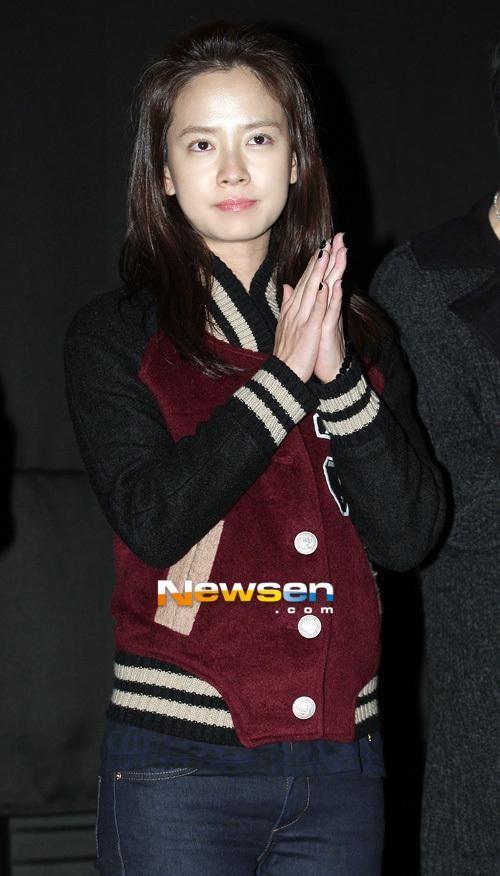 Song Ji Hyo Letterman jacket.