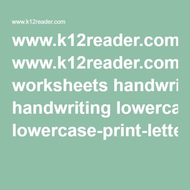 www.k12reader.com worksheets handwriting lowercase-print-letter-a-z ...