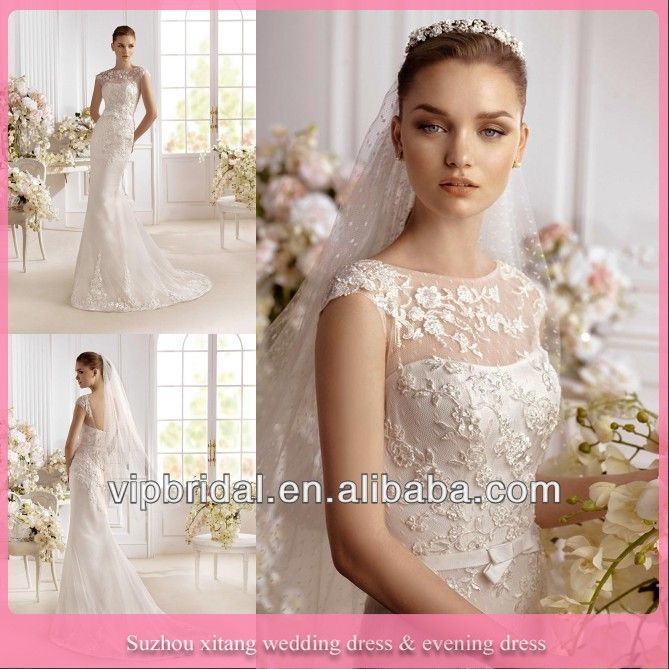 Lovely Wg Elegant Strapless Straight Ivory Wedding Dresses Sexy Fitted Quality Made Designer Lace Wedding Dress Patterns