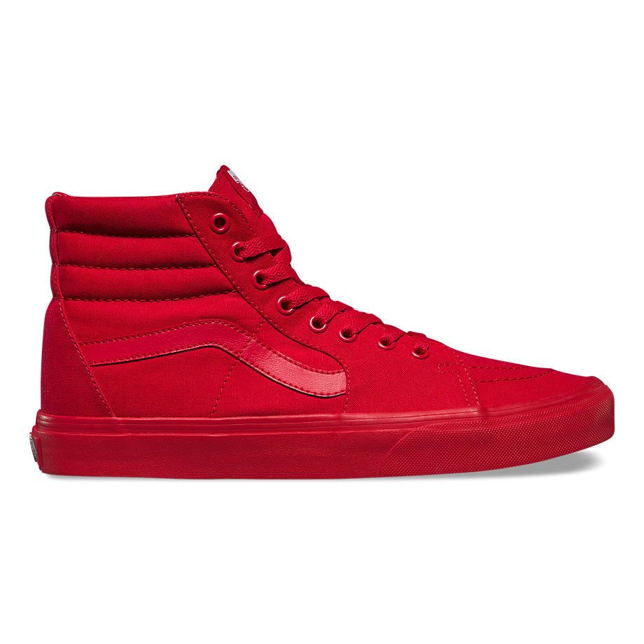 VANS SK8-HI MONO CANVAS RED SKATE SHOES VN000TS9JGJ US M 10 UK 9 EU 43  VANS   AthleticSneakers cb4c2965c