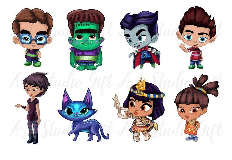 Supet Monsters Super Monsters Clip Art Digital Clip Art