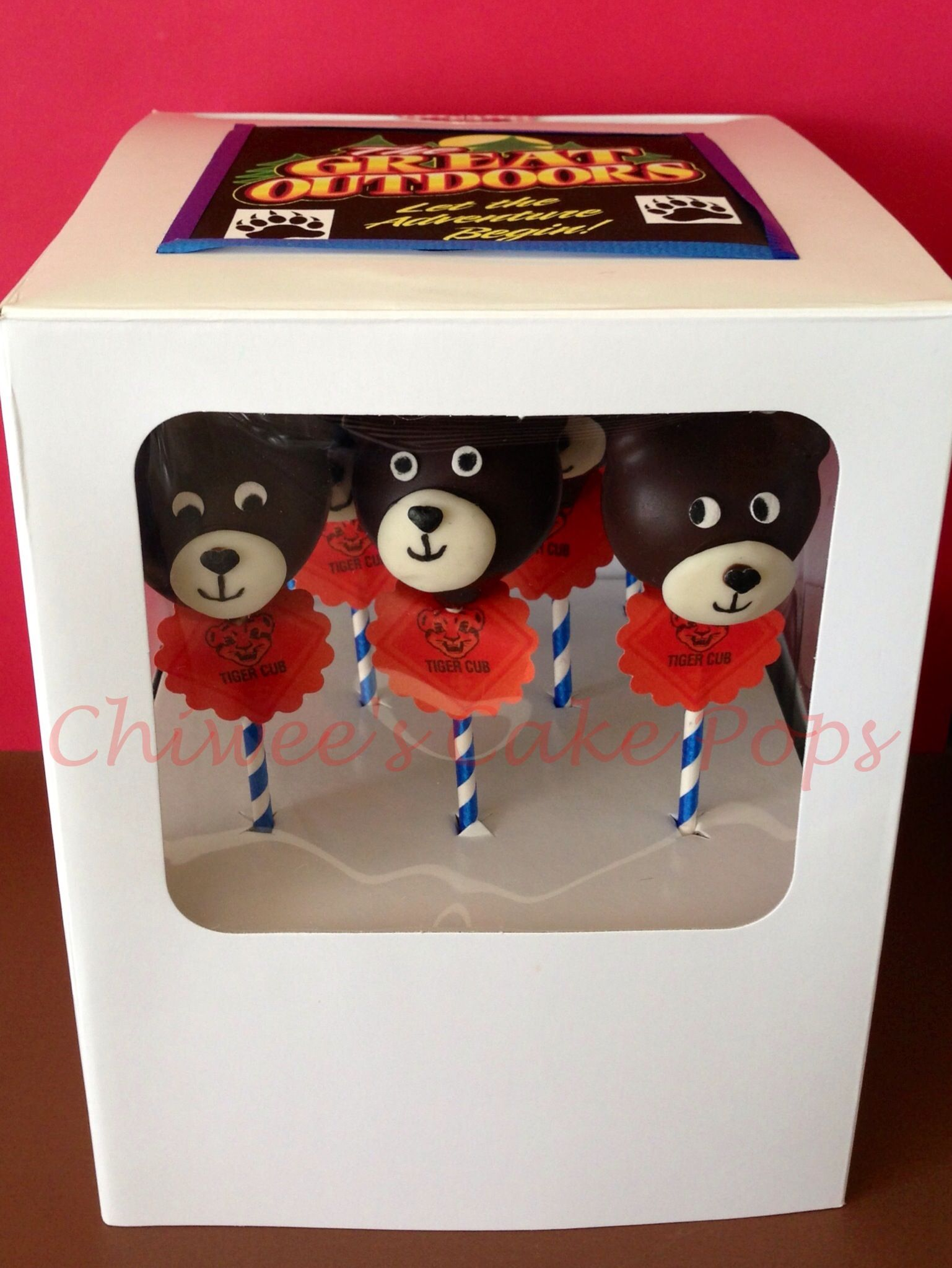 Bear pops Made especially for the Tiger cubs BSA