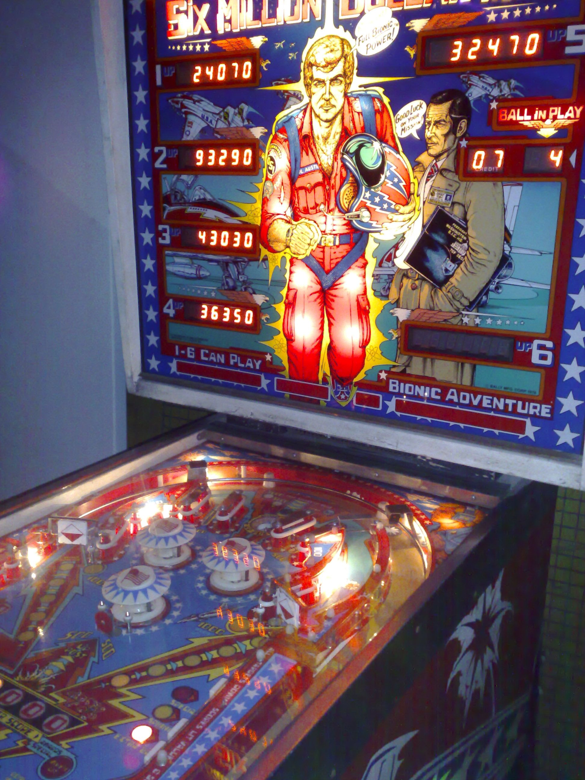 The Six Million Dollar Man Pinball. We had one of these ...