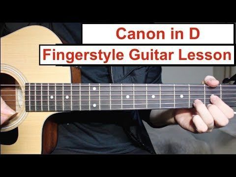 Canon in D | Fingerstyle Guitar Lesson (Tutorial) How to play Canon ...