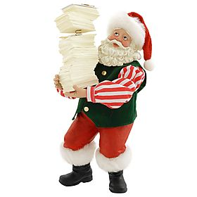 Fabriché™ Santa With Stack of Letters
