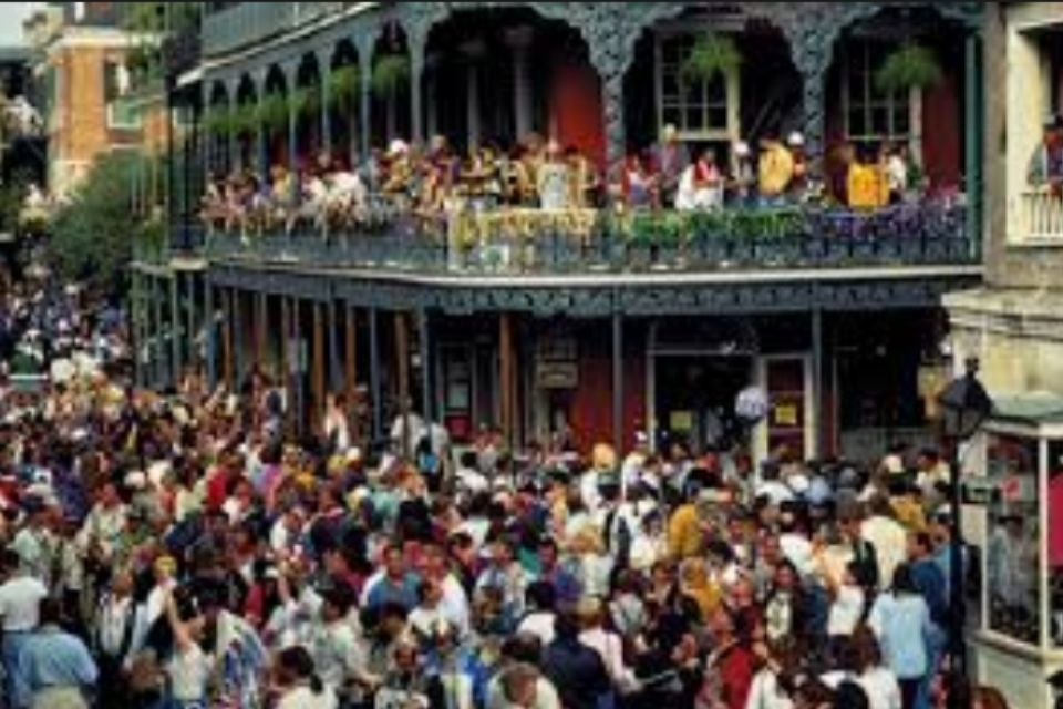 Arriving at New Orleans during mardi gras