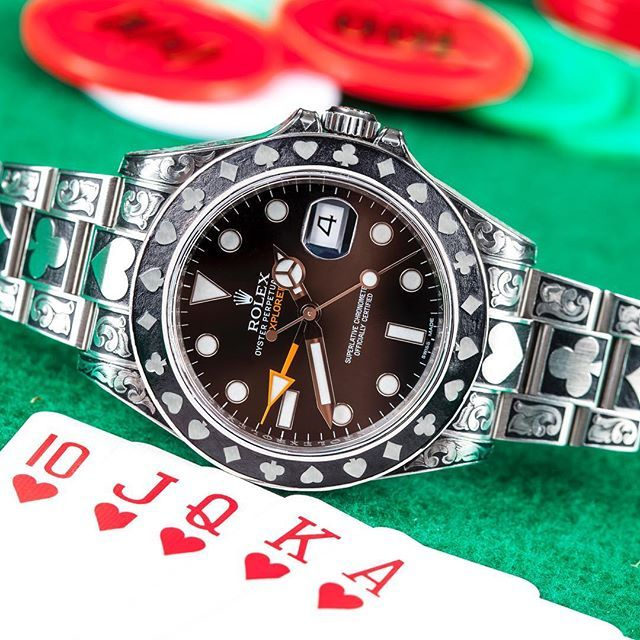 Watchcraft Collection Rolex Explorer Ii Fully Engraved Gambler Edition Available Today Rolex Explorer2 E Rolex Explorer Ii Rolex Explorer Rolex