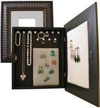 How to Make a Wall Mounted Jewelry Organizer Diy jewelry organizer