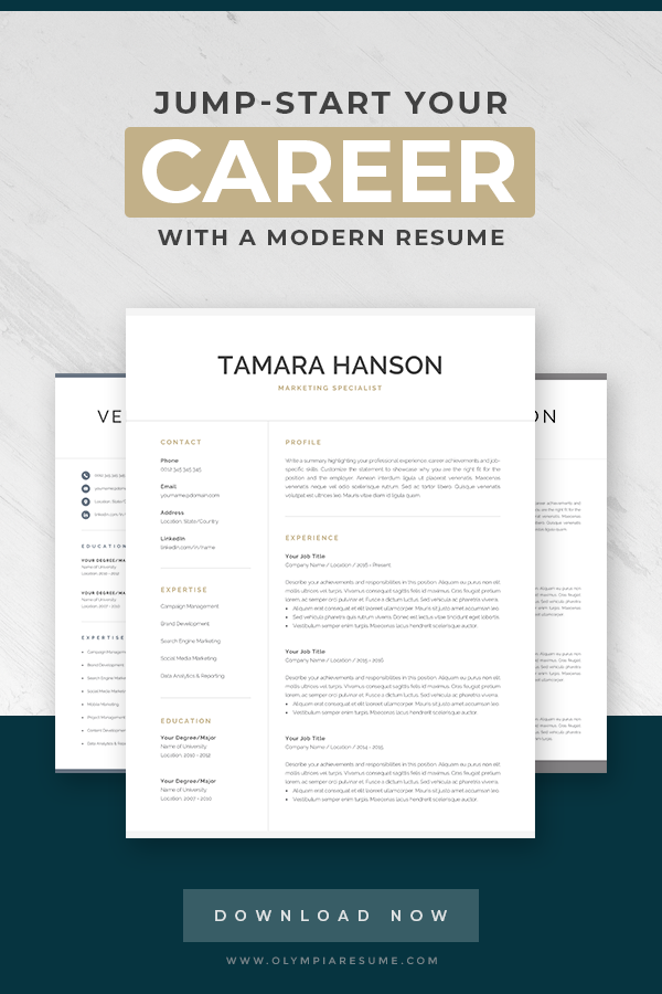 Make Your Resume Look Fresh Clean And Professional With A Modern Template From Olympia Resume Insta Resume Template Professional Resume Templates Cv Template