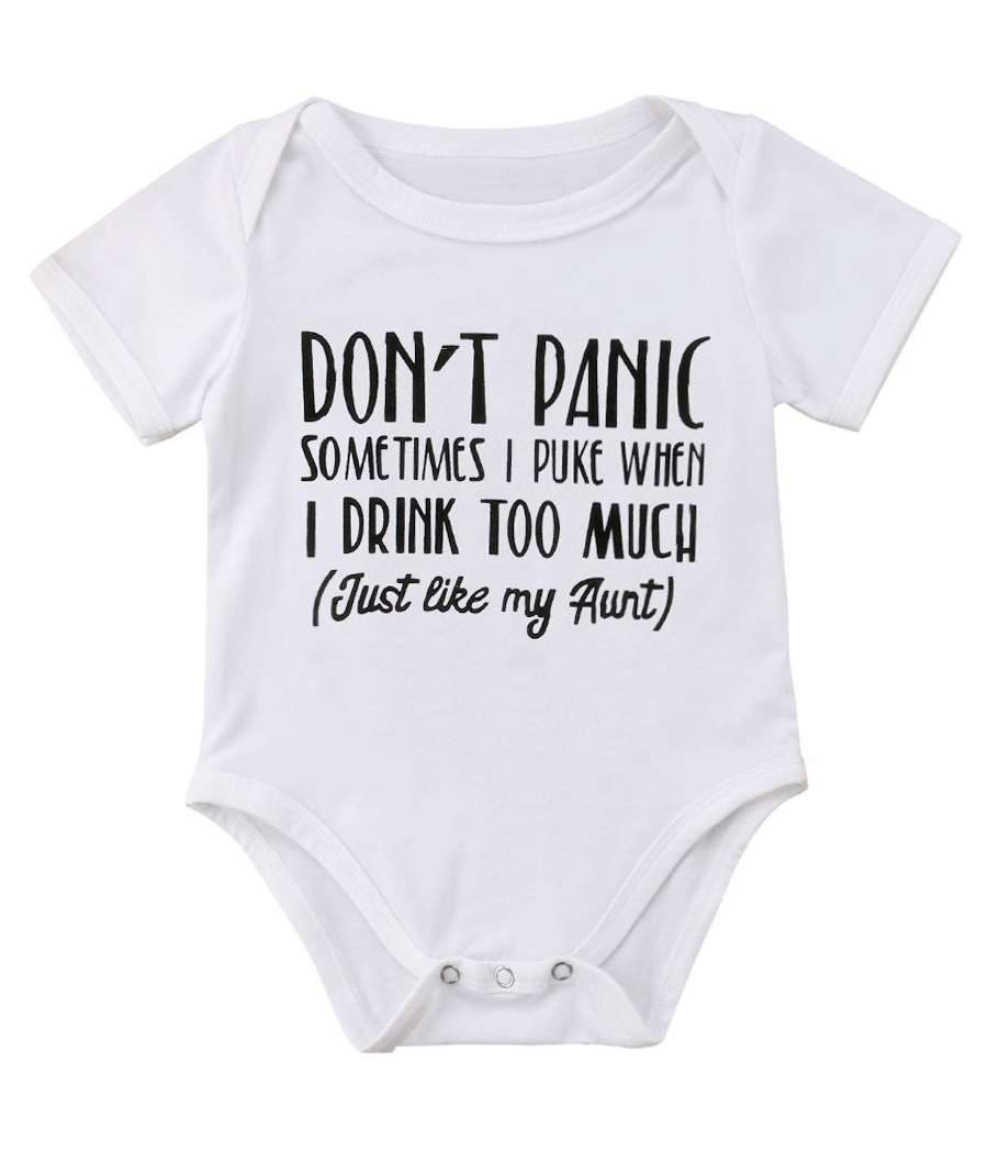 9df0be75c0b79 Don't Panic Bodysuit | Graphic Bodysuits and Tees | Twin baby ...