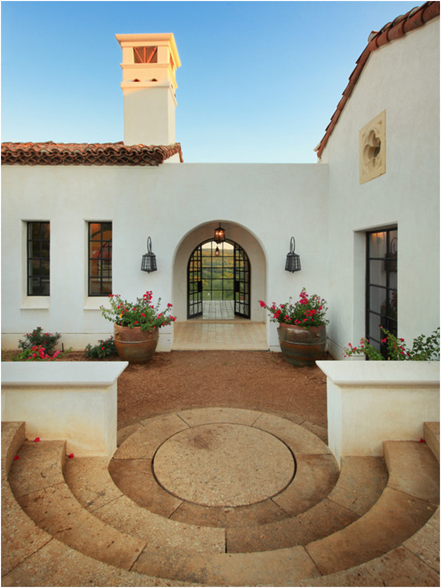 Clay/terracotta tile roof white walls tan/ & Exterior Spanish style home. Clay/terracotta tile roof white ... memphite.com