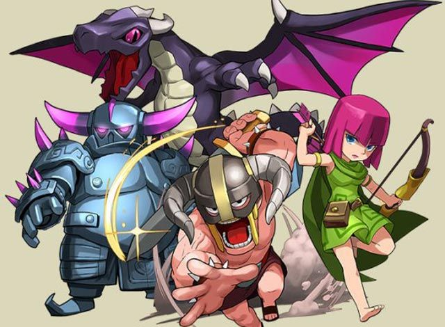 The wonderful creatures of clash of clans