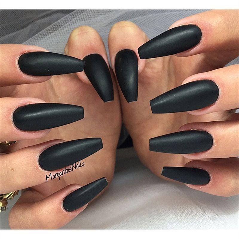 Awesome 130+ Beautiful Black Acrylic Nails Design Ideas | Nails ...