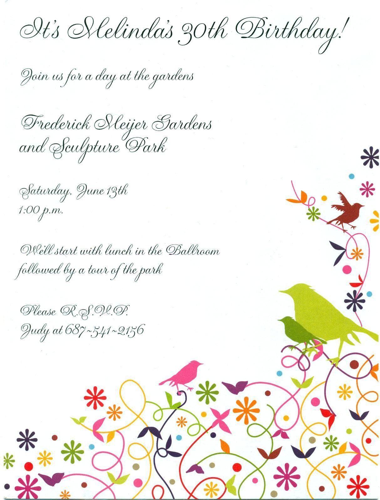 birthdaypartyinvitestemplates Birthday invitation