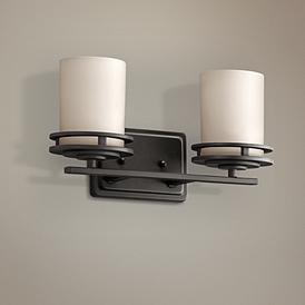 "Photo of Hendrik Bronze 14 1/2 ""wide bathroom lamp – # 93442 | Lamps Plus"