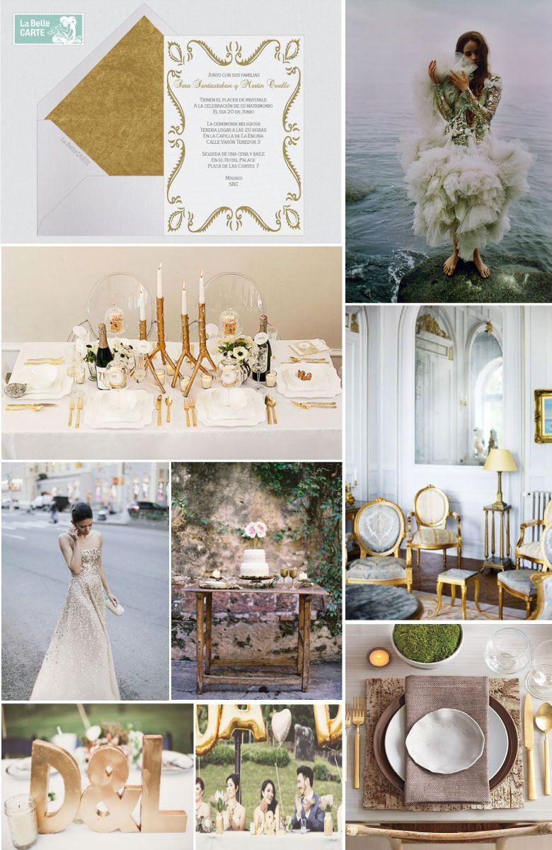 de boda e para boda ideas para boda dorada y blanca