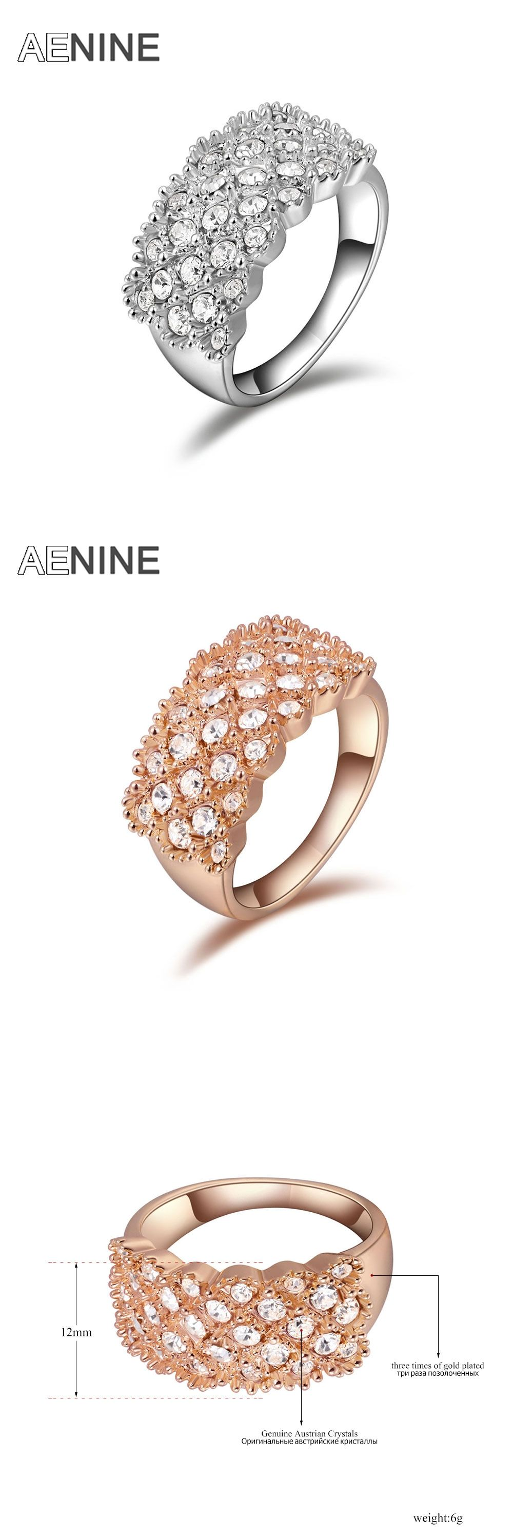 Alibabaexpress Trendy Vintage Ring Jewelry Rose Gold Color Austrian