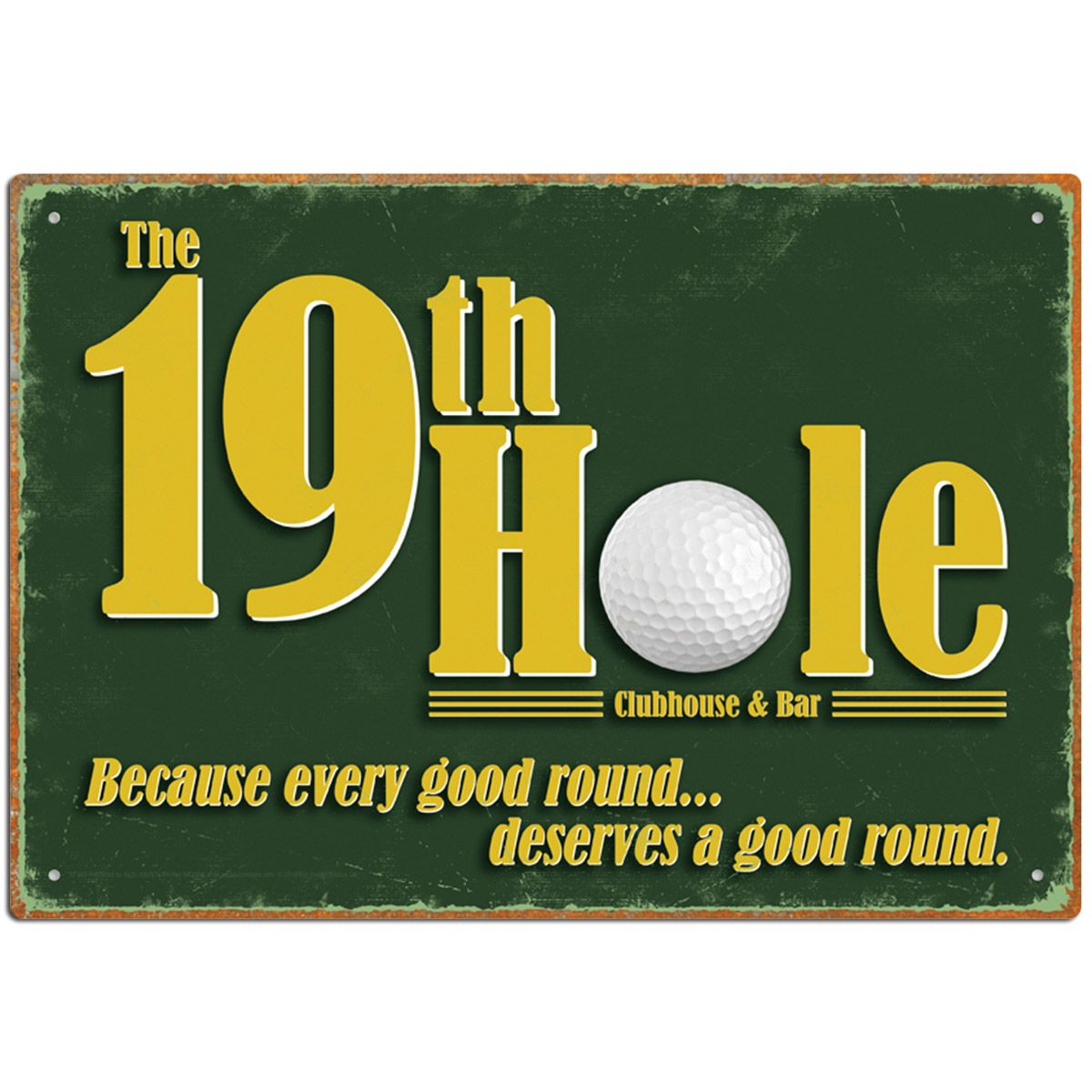 32th Hole Golf Restaurant and Bar Metal Sign   32th hole, Metal ...
