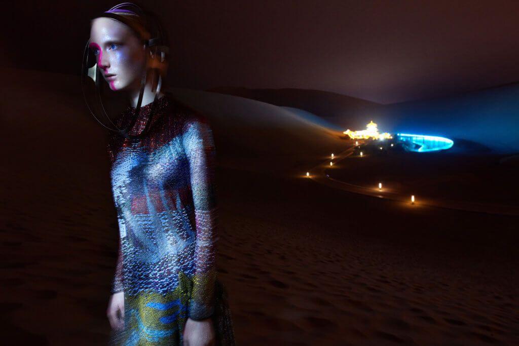 Harper´s Bazaar China // Giorgio Armani, Katerina Reich // Flying in space