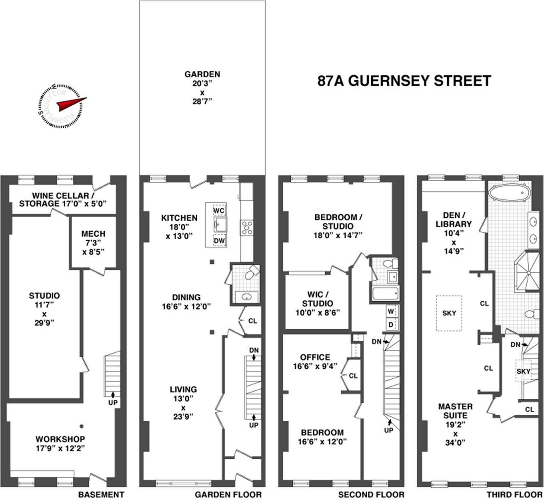 Master Suite On Top Floor Sigh Brownstone Floorplans