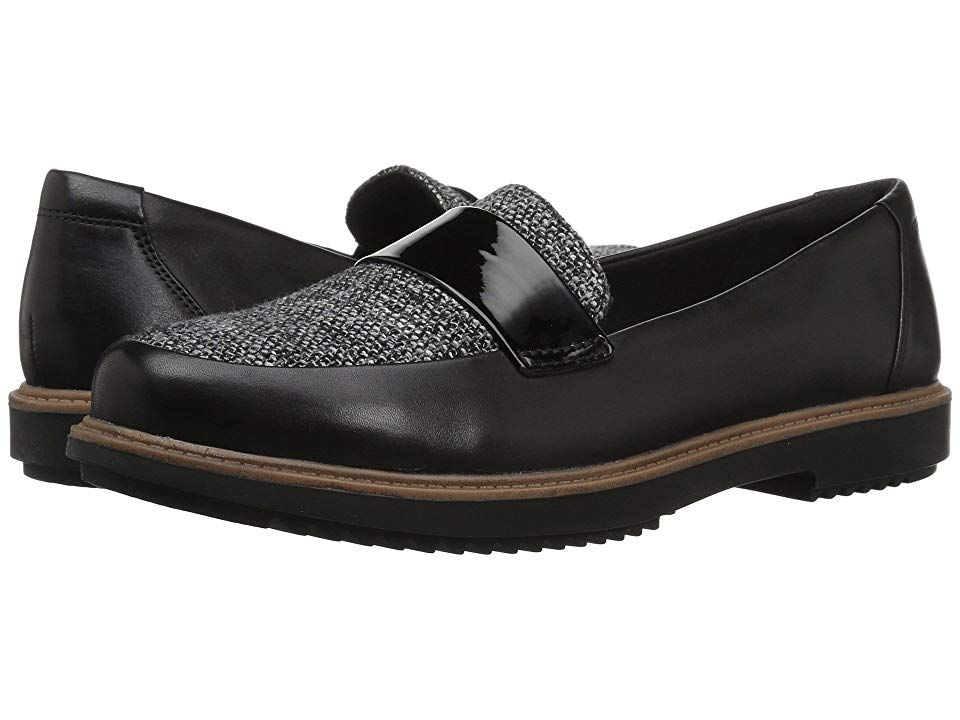 64c5b36696b Clarks Raisie Arlie (Black Leather Tweed Combination) Women s Shoes. The  sophisticated and
