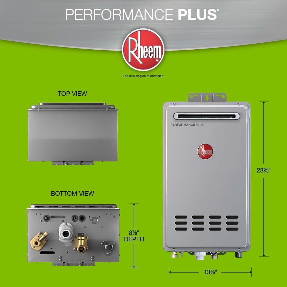 Rheem Performance Plus 7.0 GPM Liquid Propane Outdoor