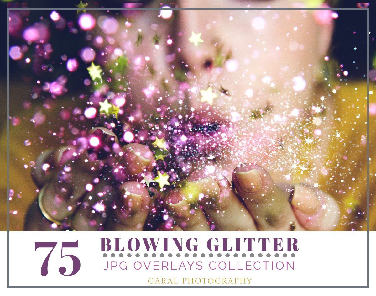 Glitter Blowing Photoshop Overlays 75 Pack Photoshop Overlay Pixie Dust Bokeh Effect Glitter Overlay Https Etsy Me 2o1czyw Supplies Cardmakingstationer