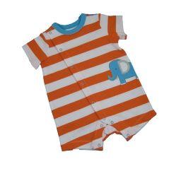 Orange Striped Romper
