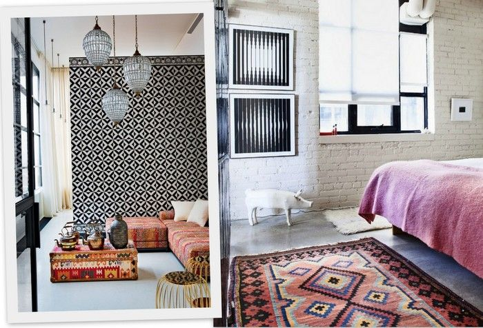Modern industrial bohemian global eclectic decor google for Ethnic interior design style
