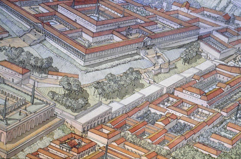 Italie - Roma (Rome) - République sous Néron - Domus Tiberiana et environs en 2020 | Rome, Ville ...