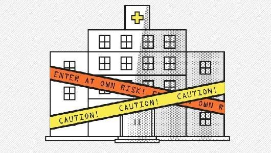 Hospitals are supposed to be places of healing. But as this infographic shows, threats like superbugs, sloppy records and sleepy interns actually can make U.S.