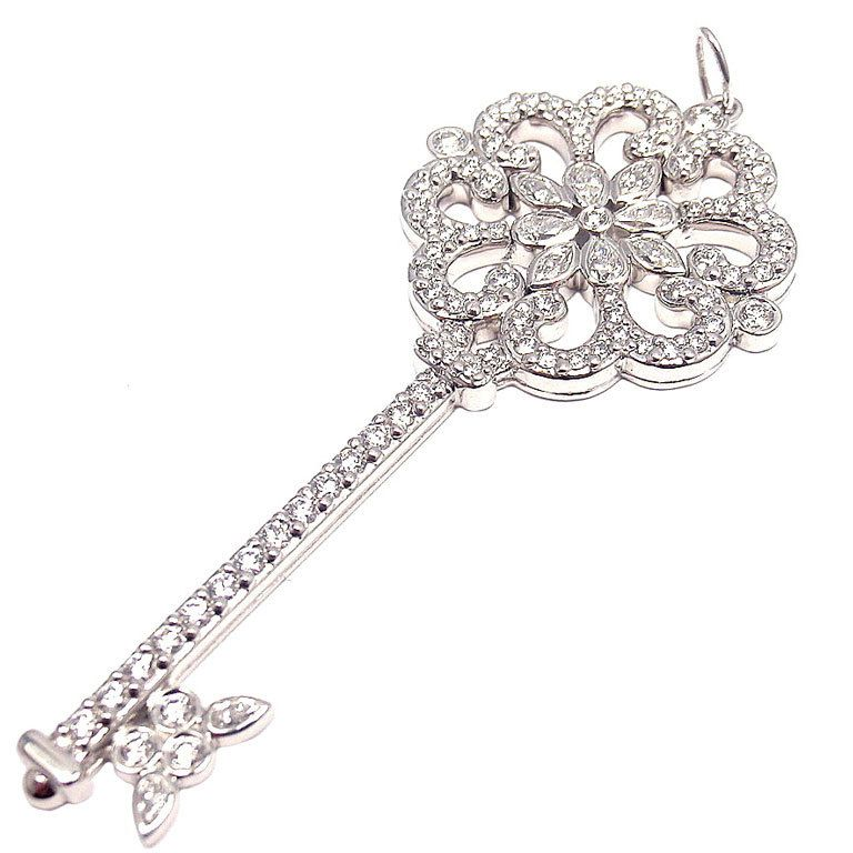 co diamond enchant primrose platinum key pendant tiffany co diamond enchant primrose platinum key pendant mozeypictures Image collections