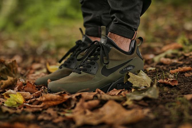 Nike Air Max 90 Mid Winter Loden Black Men's Shoes Landau