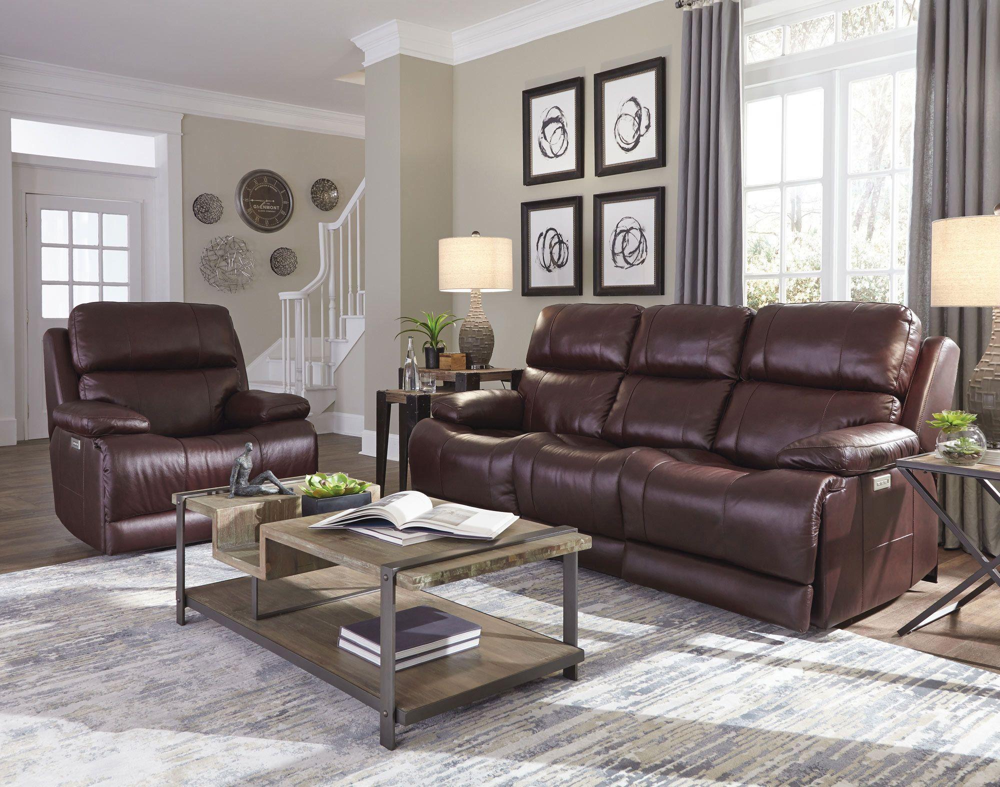 Kenaston Power Reclining Sofa With Headrest And Lumbar Palliser Furniture Home G Minimalist Living Room Brown Couch Living Room Living Room Decor Apartment